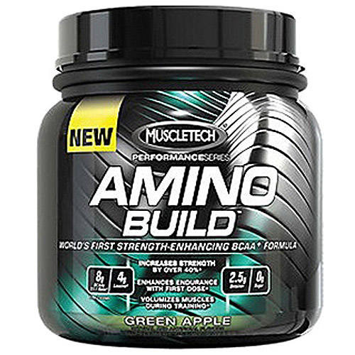 MuscleTech Performance Series Amino Build Green Apple Powder Protein Drink 1 lb