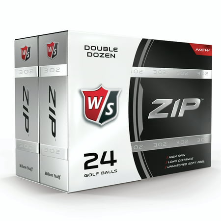 Wilson Staff Zip Golf Balls 24 Ball Pack (2 boxes containing 12 balls each) (Golf Two Ball)