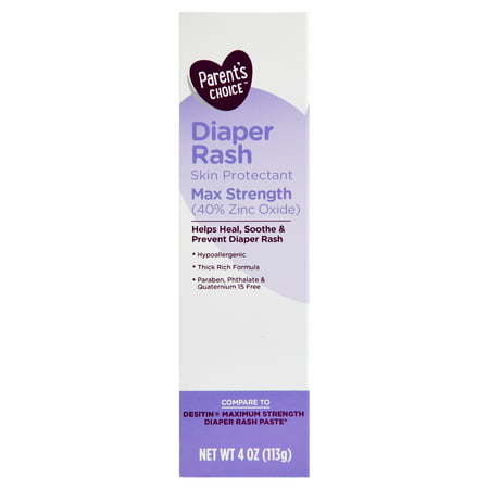 Childrens Diaper Ointment - Parent's Choice Diaper Rash Ointment, Max Strength, 4 oz