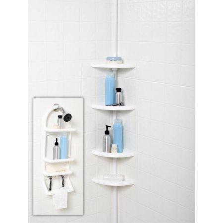 2-Piece Shower Caddy Set, White - Walmart.com