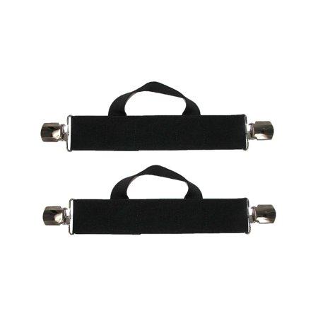 Synthetic Stirrup Straps (Size one size Men's Elastic Anti Slip Pin Clip Biker Stirrup)
