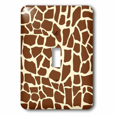 3dRose Giraffe skin graphic animal print pattern - brown and yellow - African safari - modern stylish, Single Toggle Switch