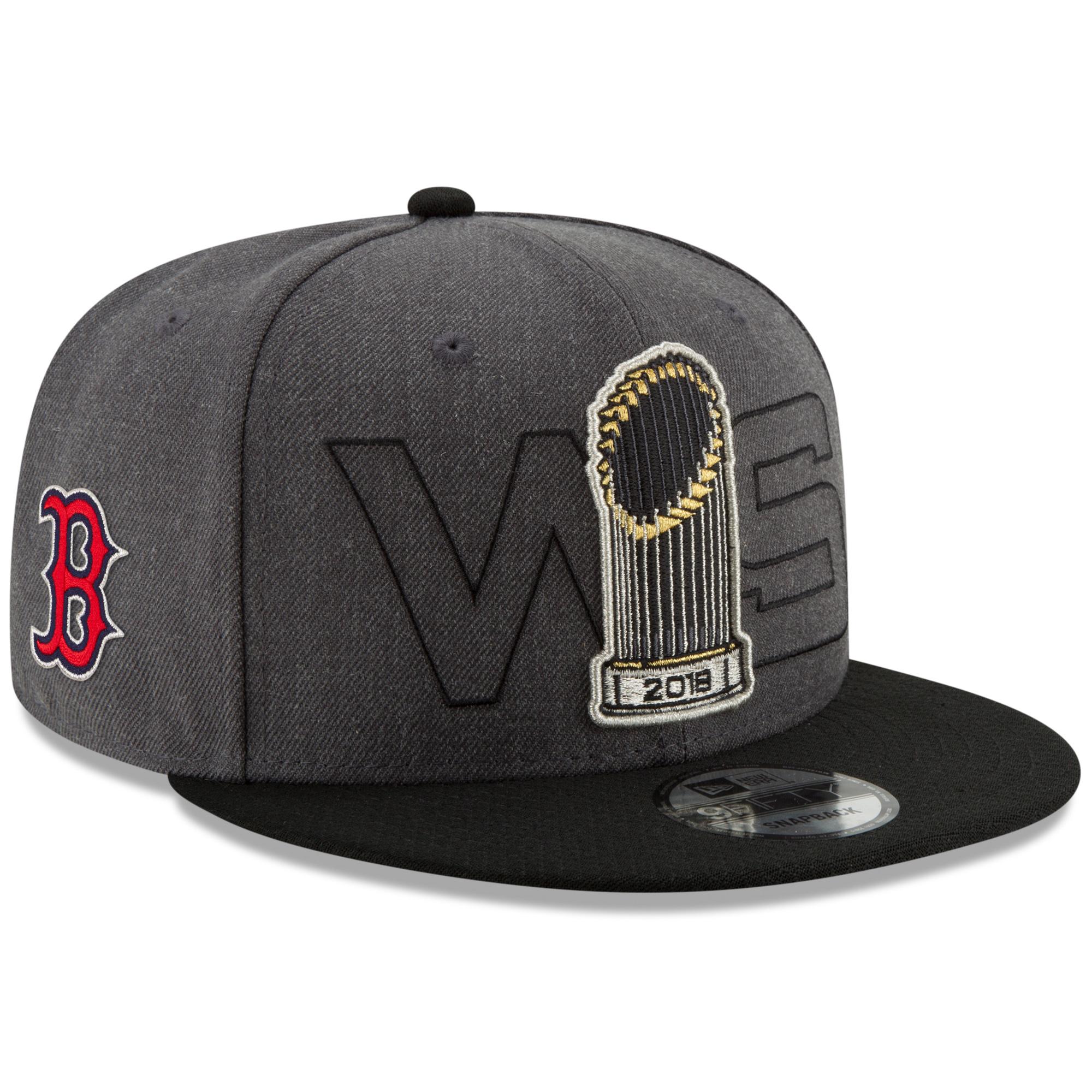 Boston Red Sox New Era 2018 World Series Champions Parade 9FIFTY Adjustable Hat - Charcoal - OSFA