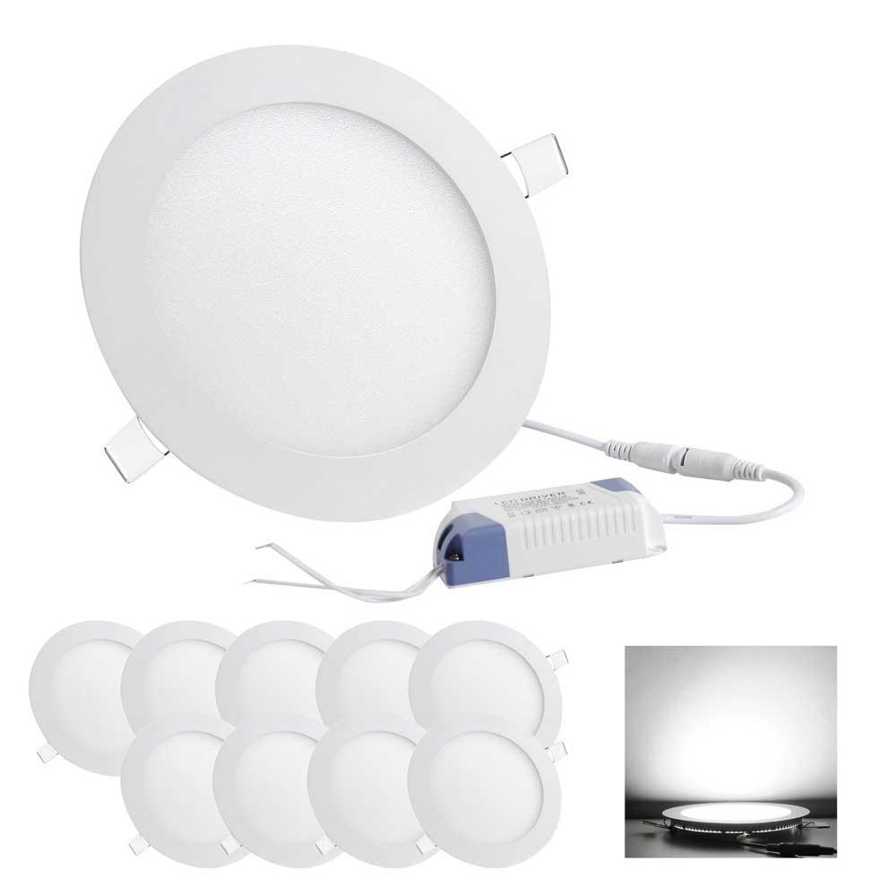 DELight 9W 12W Ultra-thin LED Flat Panel Light, 6500K 80W Equivalent ...