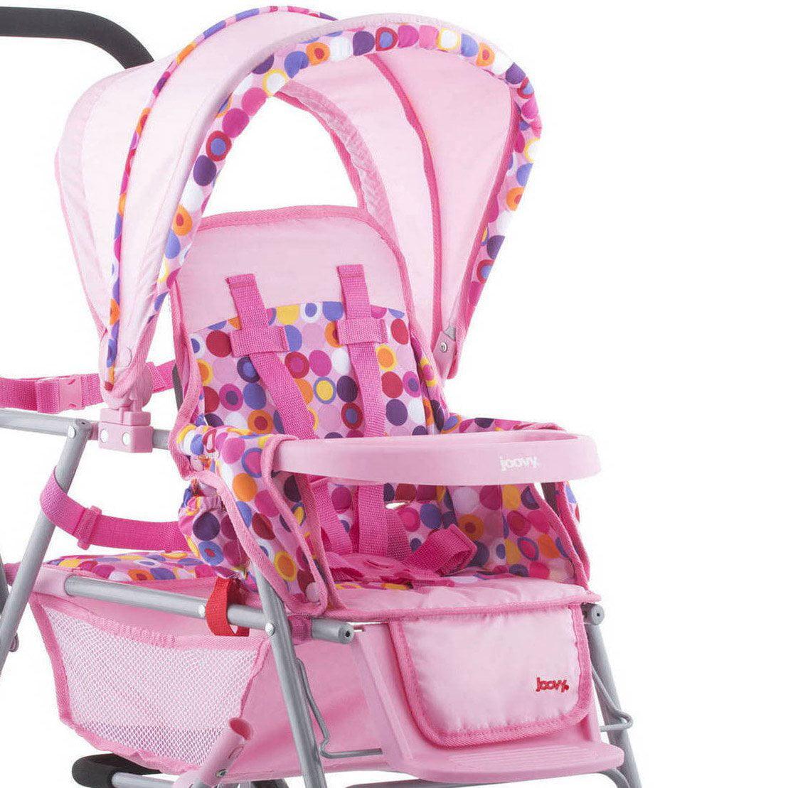 Joovy Pretend Play Stroller Toy Doll Car Seat Portable Room2 Playard Pink