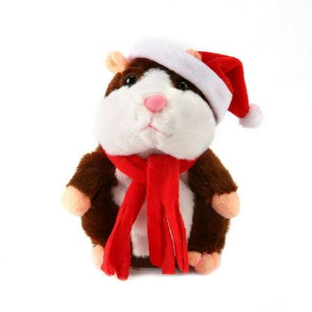 Funny Walking Talking Speaking Nodding Hamster Plush Toy Animal Kids Toy - image 5 of 9