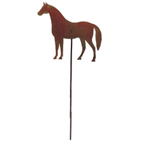 Village Wrought Iron RGS-68 Horse - Rusted Garden Stake ()