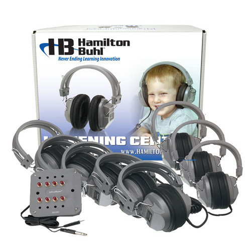 Hamilton Electronics LCB - JBP-8SV - HA5 Listening Center- 8 Station Jackbox with Volume- Deluxe Headphones- ASM with