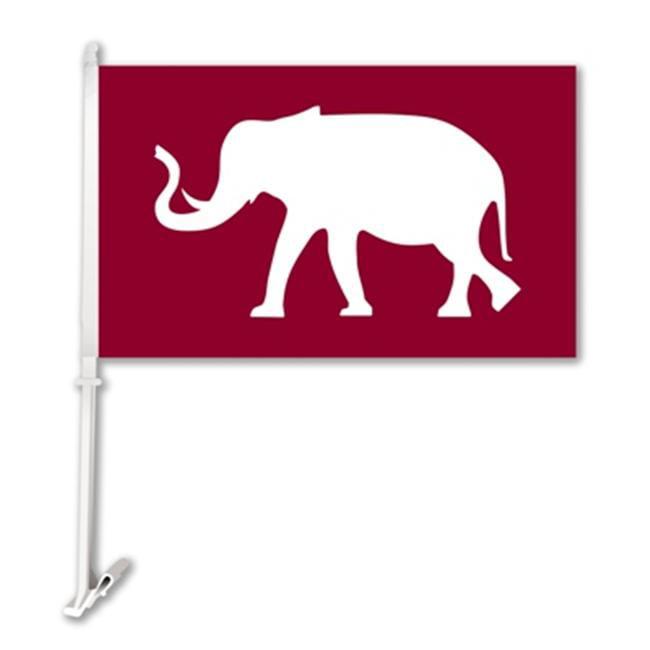 BSI PRODUCTS  37002 Car Flag with Wall Brackett - Alabama Crimson Tide