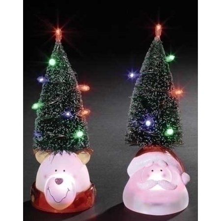 95 battery operated led lighted christmas tree with reindeer head decoration