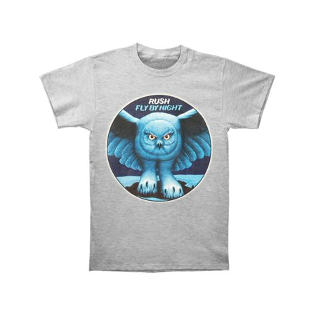 Rush Men's  Fly By Night Heather Grey Slim Fit T-shirt Heather