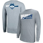 Men's Gray UConn Huskies Strikethru Long Sleeve T-Shirt
