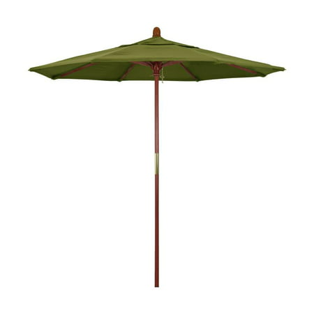 California Umbrella Grove Series Patio Market Umbrella in Pacifica with Wood Pole Hardwood Ribs Push Lift ()