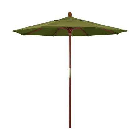 Hardwood Market Umbrella (California Umbrella Grove Series Patio Market Umbrella in Pacifica with Wood Pole Hardwood Ribs Push Lift )