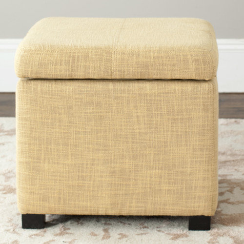 Storage Ottoman in Gold Finish