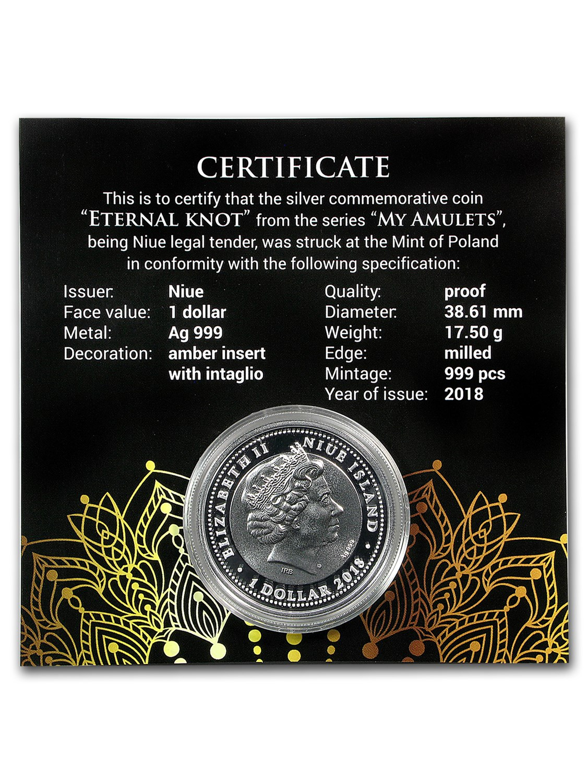 2018 Niue Silver Eternal Knot Coin
