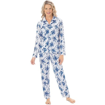 Women's Floral Print Long Sleeve Pajama Sleepwear Set