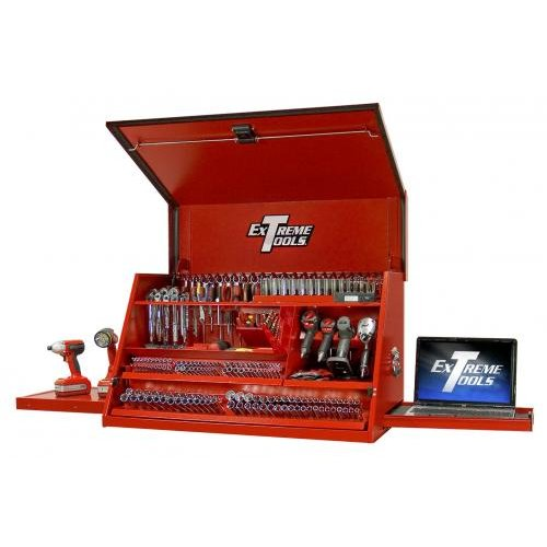 Extreme Tools PWS4105TXRD 41in Deluxe Extreme Portable Workstation in Textured Red
