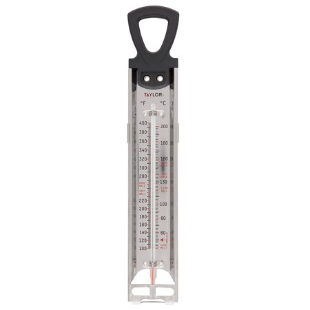 Taylor Candy and Deep Fry Thermometer with Adjustable Pan Clip Connoisseur Candy Deep Fry Thermometer
