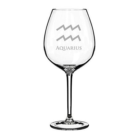 Wine Glass Goblet Horoscope Zodiac Birth Sign  20 Oz  Aquarius