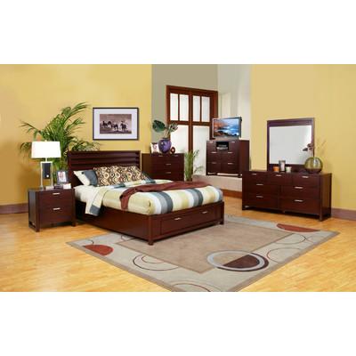 Bundle-28 Alpine Furniture Camarillo Platform Customizable Bedroom Set (5 Pieces)