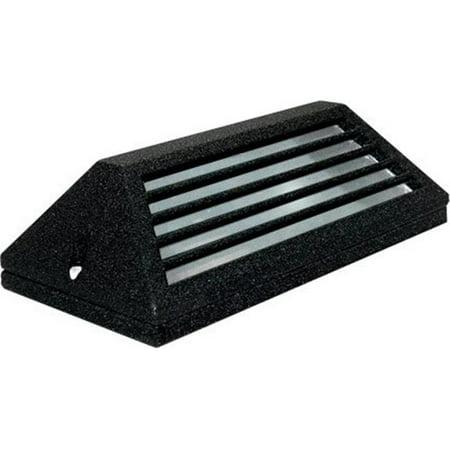Dabmar Lighting LV608-B Cast Aluminum Surface Mount Louvered Brick, Step, Wall & Deck Light, Black - 4 x 7.25 x 2.25 in.