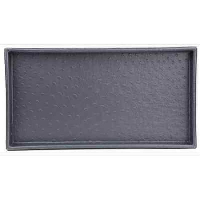 Home Basics ST44765 Grey Leather Bath Vanity Tray - image 1 de 1