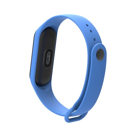 Replacement Wrist Strap for Xiao-Mi Band 3/4 General TPU Wristband (With reinforcement-ring) Green - image 3 de 5
