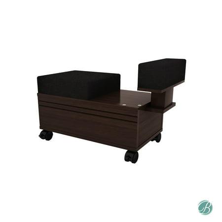 Pedicure Cart with Footrest  BERKELEY Nail Salon Furniture & Equipment - Pedicure Accessory Cart