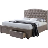 Acme Denise Queen Storage Bed Slats, Mink Fabric (Box 5 of 5)