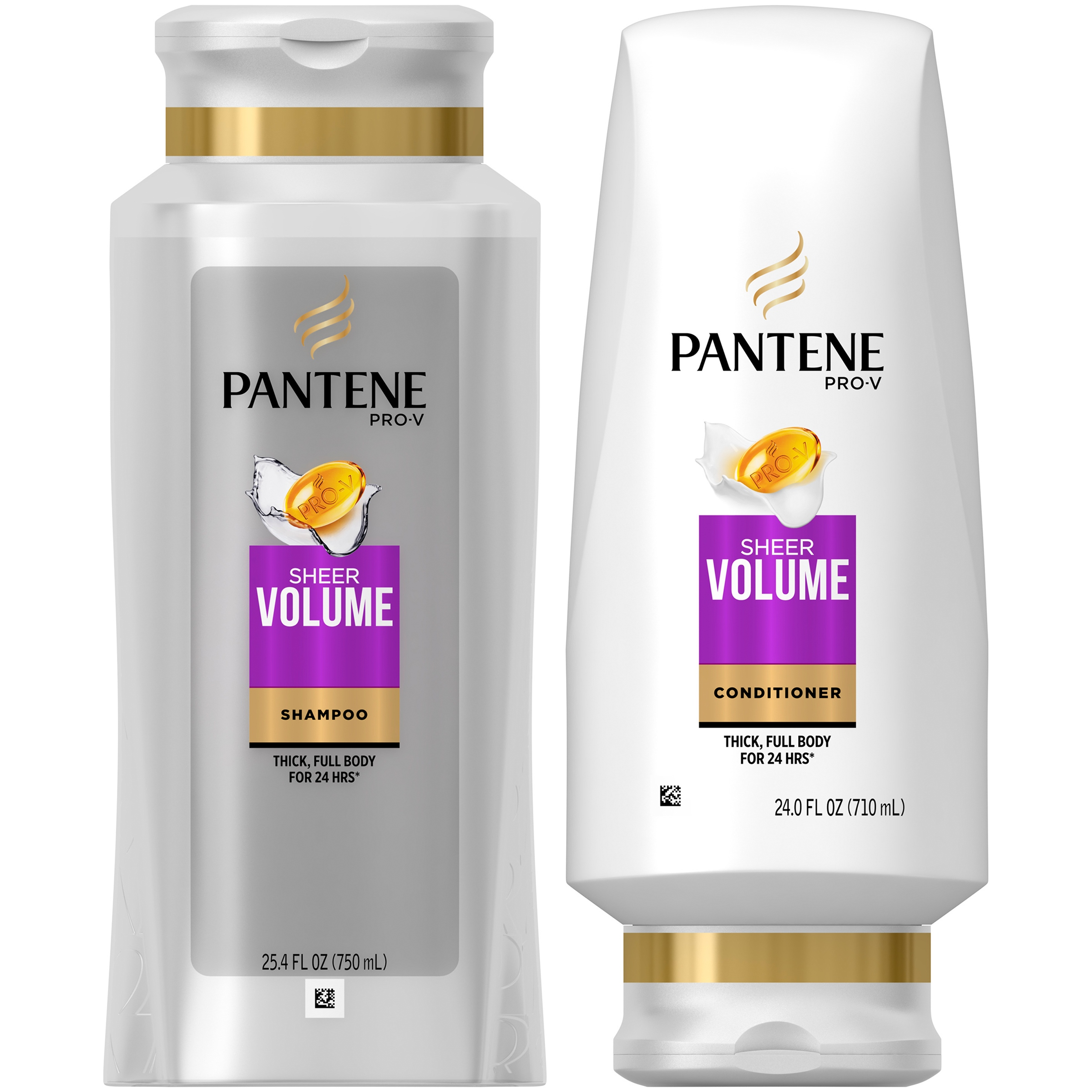 Pantene Pro-V Sheer Volume Shampoo and Conditioner Dual Pack, 49.4 fl oz