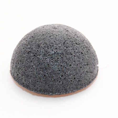 Konjac Facial Sponge Set - 100% Natural Great for Sensitive, Oily & Acne Prone Skin -Best Beauty Facial Scrub for gentle deep cleaning & exfoliation (2 Charcoal Sponges