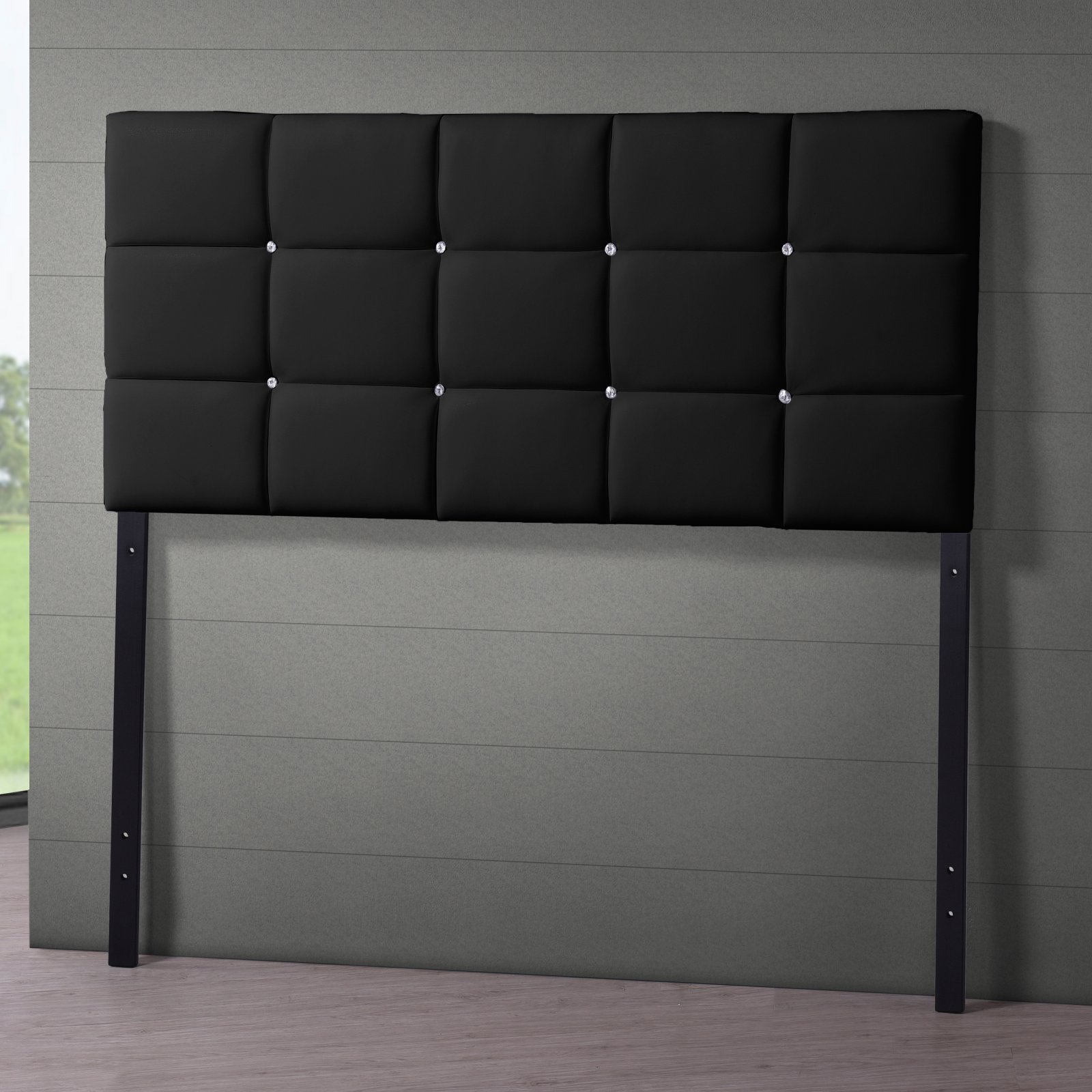 Baxton Studio Bordeaux Modern and Contemporary Faux Leather Full Size Headboard, Multiple Sizes and Colors
