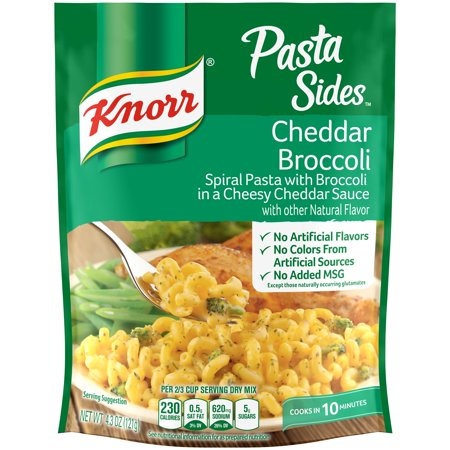 (3 Pack) Knorr Cheddar Broccoli Pasta Side Dish, 4.3 oz