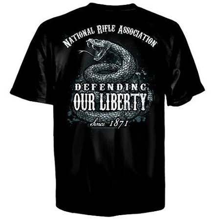 NRA National Rifle Association Snake Defending Army Gun Laws Mens Shirt 600-2331