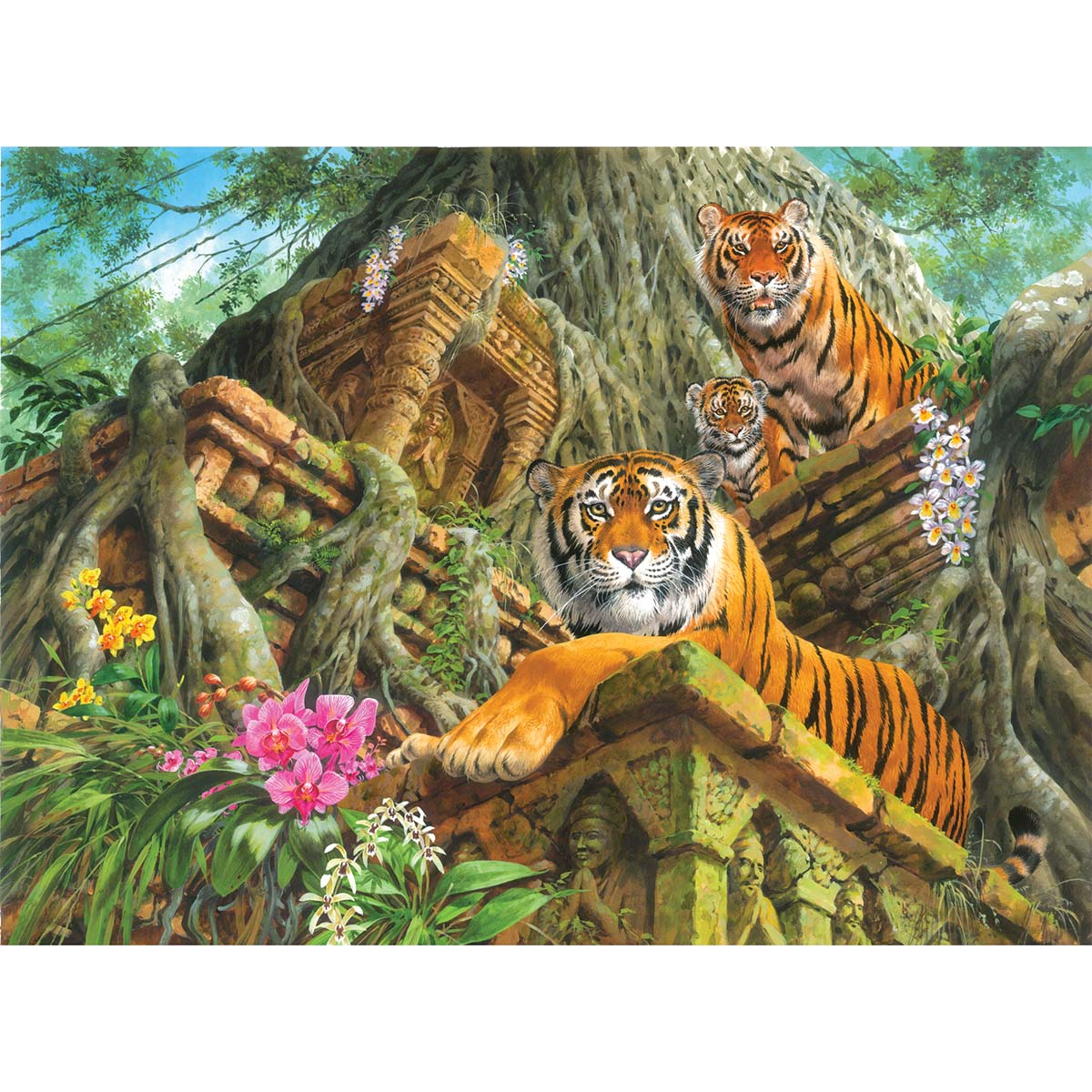Perre Temple Tigers Jigsaw Puzzle