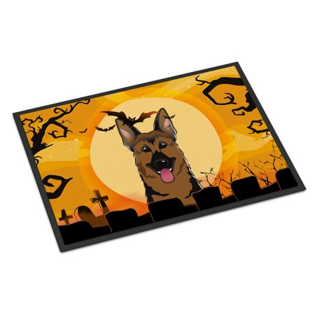 Halloween German Shepherd Door Mat - Mats Zuccarello Halloween