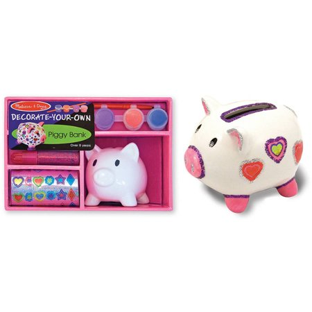 Melissa Doug Decorate Your Own Piggy Bank Craft Kit Walmartcom