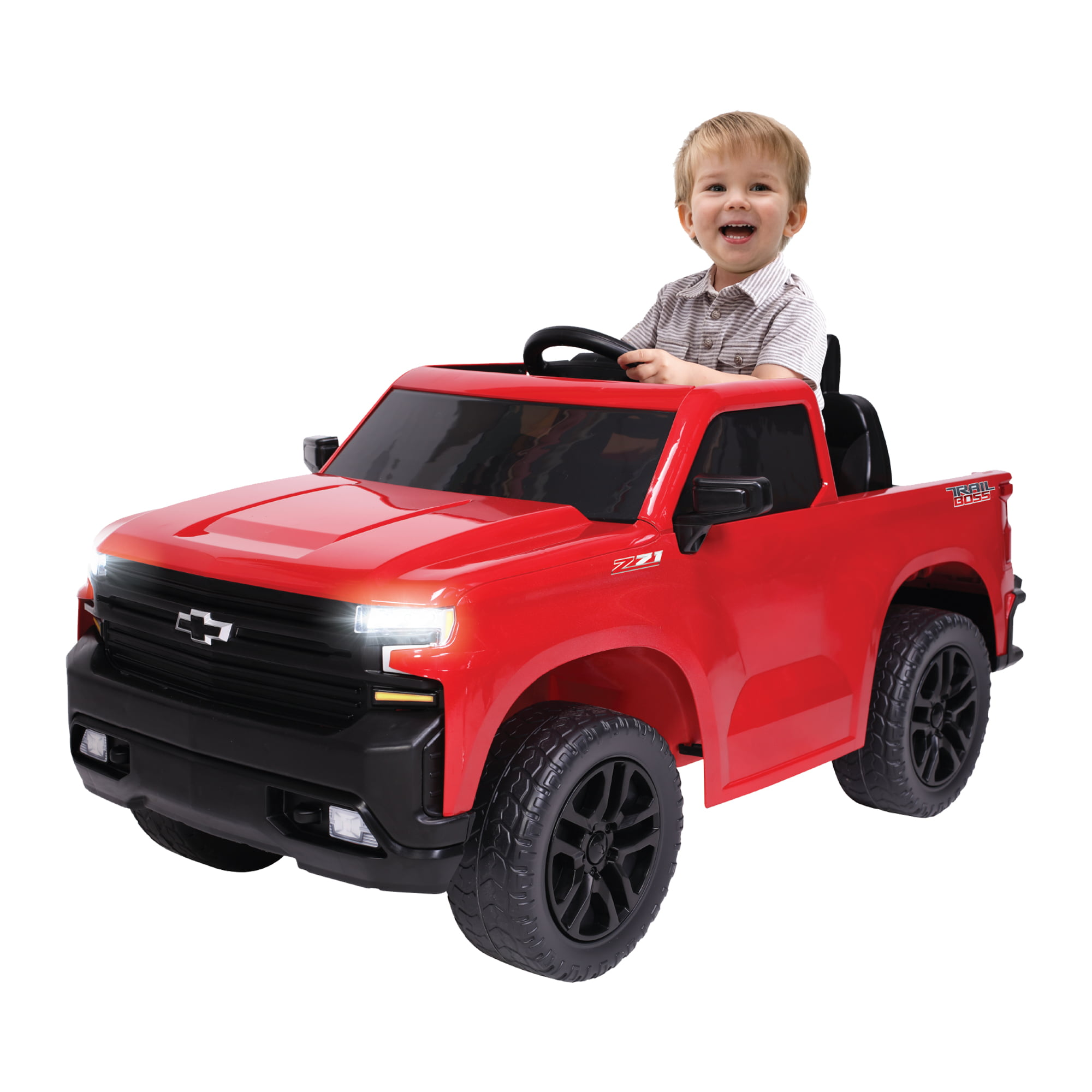 Kalee 6 Volt Black Chevy Silverado Trail Boss Pickup Truck Walmart Com Walmart Com