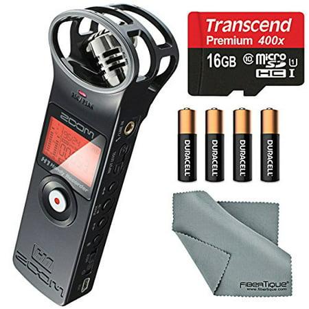 Zoom H1 Portable Digital Audio Recorder Bundle With 16 Gb