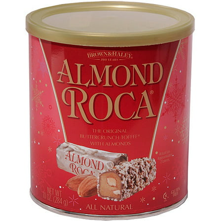 Almond Roca Holiday Buttercrunch Toffee with Almonds, 10 ...