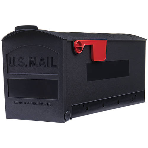 Gibraltar Patriot Medium Capacity Rust-Proof Plastic Black Post-Mount Mailbox, GMB505B01 by Solar Group