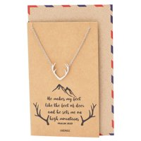 Product Image Quan Jewelry Deer Antler Pendant Gemini Necklace Birthday Gifts For BFF Animal