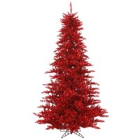 6.5 ft. x 46 in. Tinsel Red Fir Tree - 1216 Tips