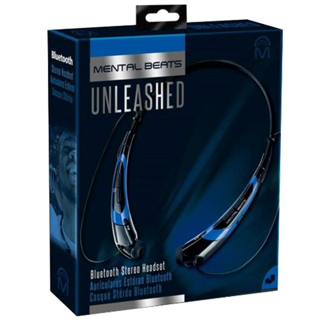 Mental Beats 561 Mental Beats Bluetooth Unleashed Earbuds, Blue