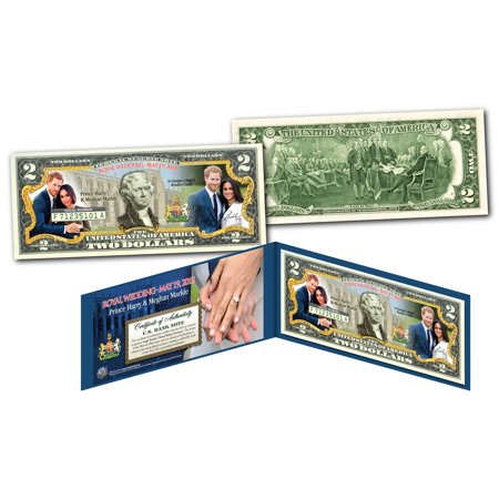PRINCE HARRY & MEGHAN MARKLE Royal Wedding May 19th 2018 Official $2 U.S. Bill](Cheapest Wedding)
