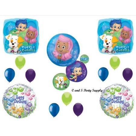 NEW Bubble Guppies XL Birthday Party Balloons Decorations Supplies NEW! by Qualatex by Qualatex - Bubble Guppies Party Decor