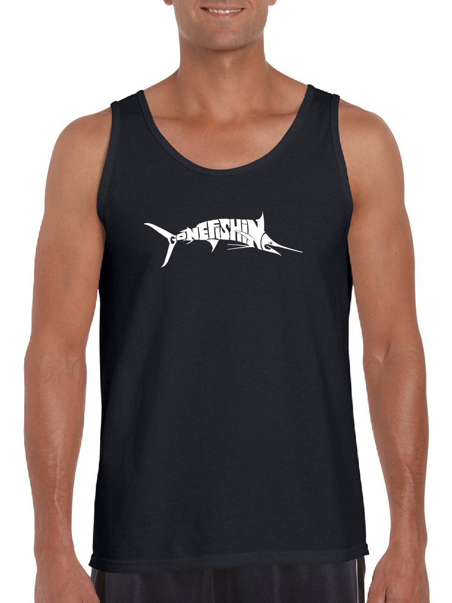 Big Men's Tank Top - Marlin - Gone Fishing