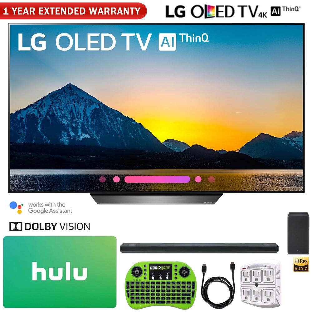 "LG OLED55B8PUA 55"" Class B8 OLED 4K HDR AI Smart TV (2018) + LG SK10Y 5.1.2-Channel Hi-Res Audio Soundbar with Dolby Atmos + Hulu $100 Gift Card + More"