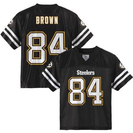 wholesale dealer acaac edb3b Youth Antonio Brown Black Pittsburgh Steelers Player Jersey